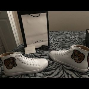 Gucci tiger shoes White